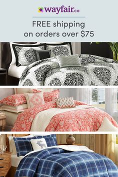 Sign up for access to exclusive sales, all at up to 70% OFF! From cool and serene (think crisp white duvet) to plush and cozy (color-pop pillows and velvet galore), get your bedroom to sanctuary-status! With endless thread-count and style options, we have bedding options for every look and budget. To top it off, we're offering FREE shipping on all orders over $75.