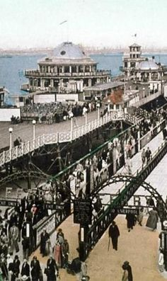 NEW BRIGHTON PIER. THE HOKEY POKEY MAN AND AN INSANE HAWKER OF FISH BY CONNIE DURAND. AVAILABLE ON AMAZON KINDLE Liverpool Waterfront, Liverpool Docks, Liverpool History, Liverpool Street, Rochdale, New Brighton, Kingdom Of Great Britain, Old Photos, Manchester