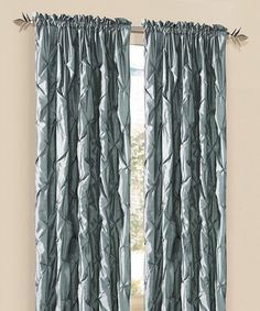 This Silver & Blue Carla Curtain Panel is perfect! #zulilyfinds