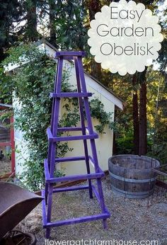 diy easy garden obelisk, diy renovations projects, gardening, Easy garden obelisk