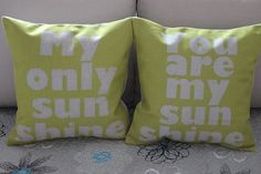 1PCS 45cm Vintage My Only Sunshine You Are by CushionCoverMiniHat, $14.99