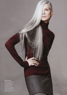 Stunning grey hair... #Grey Hair #Aging