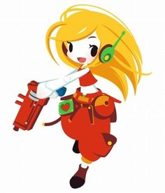 Curly Brace, from Cave Story/Promo for Cave Story 3D made by Shinonoko, just for Japan.