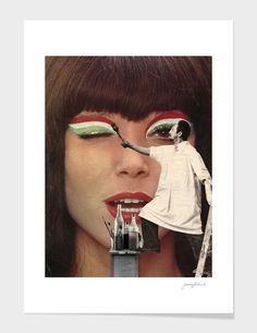 """The (Make Up) Artist"" - Numbered Art Print by Sammy Slabbinck on Curioos"