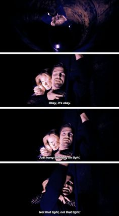 """""""Hang on tight. Not that tight!"""" - Oliver and Felicity #Arrow"""
