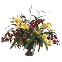 Ranunculus Silk Orchid Arrangement ARWF3505 #silkflowers