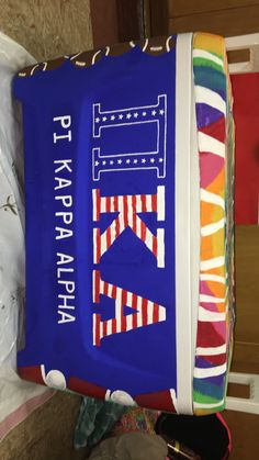 Painted fraternity cooler