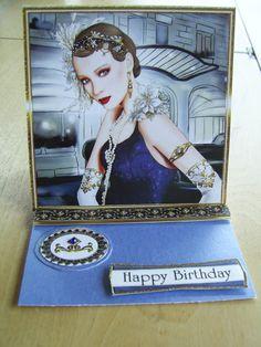 Art deco lovers birthday card.