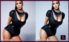 Kim Kardashians stomach was made smaller, her breasts reduced, her body elongated, her natural skin color lightened and her cellulite Photoshopped out. Don't compare yourself to a celebrity.