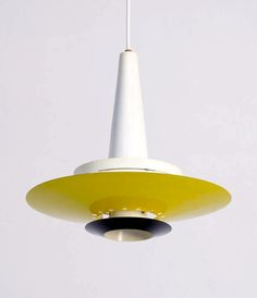 Louis Kalff; Enameled Metal Ceiling Light for Philips, 1950s.
