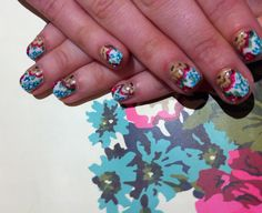 Joules inspired nail art!