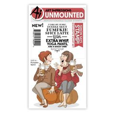Stamp stamp set by Art Impressions for STAMPtember®. Very limited quantities available of this stamp set and it is ONLY available at Simon Says Stamp this STAMPtember! Art Impressions Stamps, Hampton Art, Simon Says Stamp Blog, Fancy Nancy, Digi Stamps, Funny Cards, Clear Stamps, Pumpkin Spice, Spices
