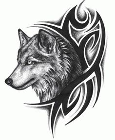 tribal tattoo that means strong man | Tribal Wolf Tattoo Tattoo Art - Free Download Tattoo #1697 Tribal Wolf ...