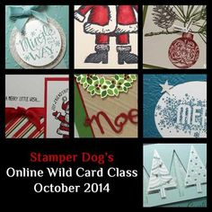 Register for our Online Wild Card Class @ http://www.stamperdog.com/2014/10/online-christmas-class.html