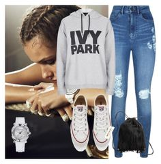 """""""Untitled #2"""" by mikicaajla ❤ liked on Polyvore featuring Lipsy, Converse, Topshop, H&M and Chopard"""