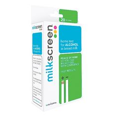Milkscreen: So you'd like to have a post pregnnancy glass of wine, but how do you know when the alcohol's out of your system and it's OK to resume breastfeeding? Milkscreen home tests detect if there is alcohol in breast milk.  IM GONNA NEED THIS!!!