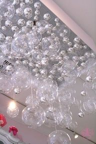 diy bubble chandelier + tutorial...would make a nice backdrop for photographs as well...hummmmmm something to think about for my next photo shoot...