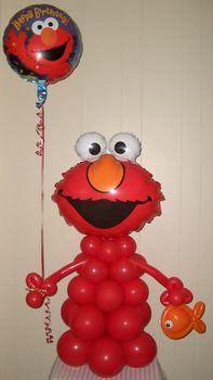 Elmo Balloon Column