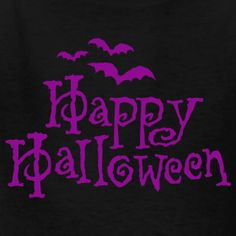 Happy Halloween in Purple and Black... I like it!