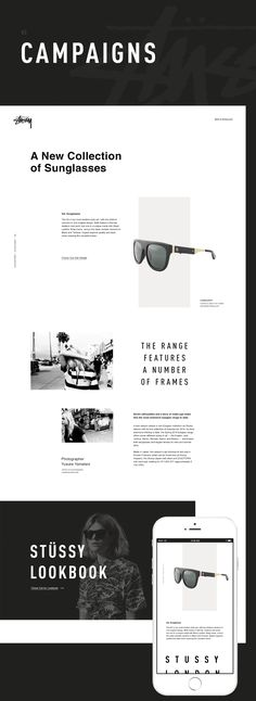 This is a website redesign concept for www.stussy.comAll images used are for representation purpose only. images used are copyrighted by their respective authors written in each section.