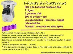 Recette de velouté de butternut au companion