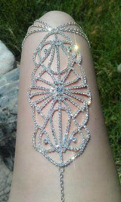 Avant Garde LegLace Body Jewelry by heartSunshine on Etsy