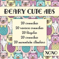 3 sets every other day! xoxo