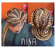 nisaraye Click the image now for more info. Black Girl Braids, Girls Braids, Natural Hair Braids, Natural Hair Styles, Box Braids Hairstyles, Cool Hairstyles, Celebrity Short Hair, Crimped Hair, Ghana Braids