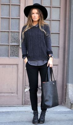 classy and casual winter style