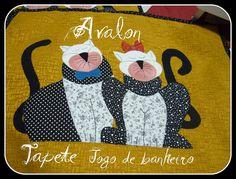 https://flic.kr/p/aR63ve | Jogo de Banheiro | tapete para chão casal de gatos