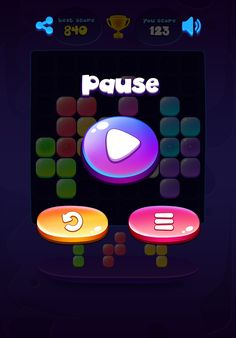 Neon Galaxy Block Puzzle on Behance Kit Games, Game Item, Game Ui, Game Design, Puzzle, Neon, Graphic Design, Adobe Photoshop, Creative