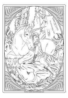 Coloring Pages To Print, Colouring Pages, Coloring Sheets, Adult Coloring, Anne Stokes, New Art, Watercolor Art, Vintage World Maps, Printables