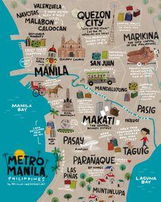 Metro Manila, Philippines Art Print by wedgienet Voyage Philippines, Philippines Culture, Philippines Travel, Philippines Tattoo, Philippines People, Bohol, Siargao, Coron Palawan, Cebu