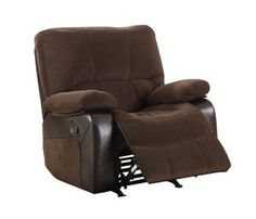 Homelegance Rocker Microfiber Recliner Chair, Dark Brown Textured and Polishe Brown Texture, Recliner, Dark Brown, Chairs, Stuff To Buy, Free Shipping, Detail, Furniture, Chair