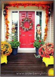Fall Front Porch 2012 - Alderberry Hill