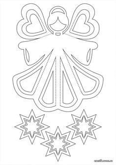 Ангел из бумаги, выкройка