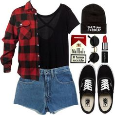 """Grunge outfit vans""""off the wall"""" томбой, джинсы бойфренда, Grunge Outfits, Rock Outfits, 90s Grunge, Emo Outfits, Outfits For Teens, Girl Outfits, Casual Outfits, Cute Outfits, Grunge Style"""