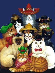 Cats with Hats ~*~ Stephanie Stouffer