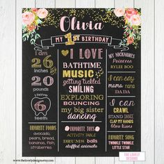 Blush Flowers First Birthday Chalkboard Sign, Boho 1st birthday chalkboard, Floral Birthday,Blush Pink and gold,Roses,Poster,PRINTABLE FILE