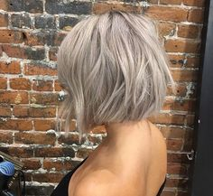 Silver blonde hair More