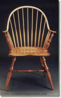Continuous arm Windsor Chair by David A. Spero This is amazingly comfortable for a wooden chair and the lines are very traditional.