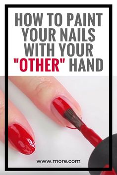 The Perfect Hack to Paint the Nails on Your OTHER Hand Without Making a Mess : Painting your nails with your non-dominant hand is the bane of home manicurists everywhere, but we found the perfect hack to make you into a nail polish pro. Nail Care Tips, Nail Tips, French Nails, Nail Painting Tips, How To Paint Nails, Nail Polish Hacks, Polish Nails, 3d Nails, Beauty Hacks For Teens