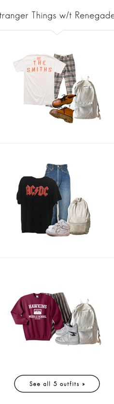 """Stranger Things w/t Renegade🔦"" by wheezy-kaspbrakk ❤ liked on Polyvore featuring Burberry, Opening Ceremony, WithChic, Levi's, NIKE, giirlsonfilm, American Apparel, Jones New York, Converse and J Brand"