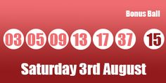 UK lotto results for Saturday 3rd August 2013 which saw the following numbers drew: (03), (05), (09), (13), (17), (37) with the Bonus Ball (15) #lottery See the prize breakdown here: http://lotterypod.com/lotto-results-3rd-august/