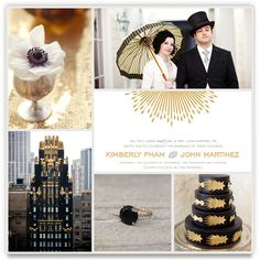 old hollywood glam by cheer up press. minted's wedding inspiration board challenge.