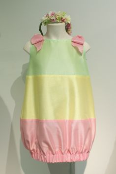 "Quis Quis Spring Summer 2015. Striped dress from ""Petals"" collection. #quisquis #SS15 #spring #summer #springsummer2015 #childrens #kids #childrenswear #kidswear #kidsfashion #girls #boys #pittibimbo79"