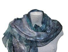 Hey, I found this really awesome Etsy listing at https://www.etsy.com/uk/listing/541887878/felted-wool-scarf-grey-blue-silk-shawl