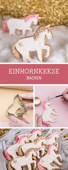 Magische Rezeptidee: Einhorn-Kekse backen und verzieren, Geschenkidee / giftidea for unicorn fans: bake unicorn cookies via DaWanda.com