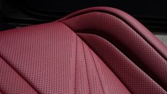 Circuit Red leather trim comes standard in the Leather Seat Covers, Leather Car Seats, Custom Car Interior, Car Interior Design, Automotive Upholstery, Car Upholstery, Lexus Cars, Cafe Racer, Leather Pattern