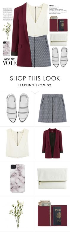 """""""Untitled #1124"""" by chantellehofland ❤ liked on Polyvore featuring Alexander Wang, Tory Burch, Alice + Olivia, Armani Exchange and Royce Leather"""